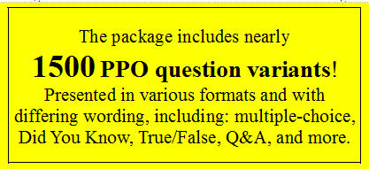 study guide for California PPO test