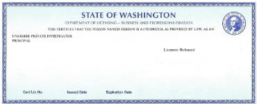 Washington private investigator license test
